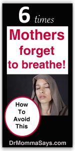Momma Addict describes 6 examples where moms forget to breathe when fearful of child performance failure and recommends hard work to prevent anxiety