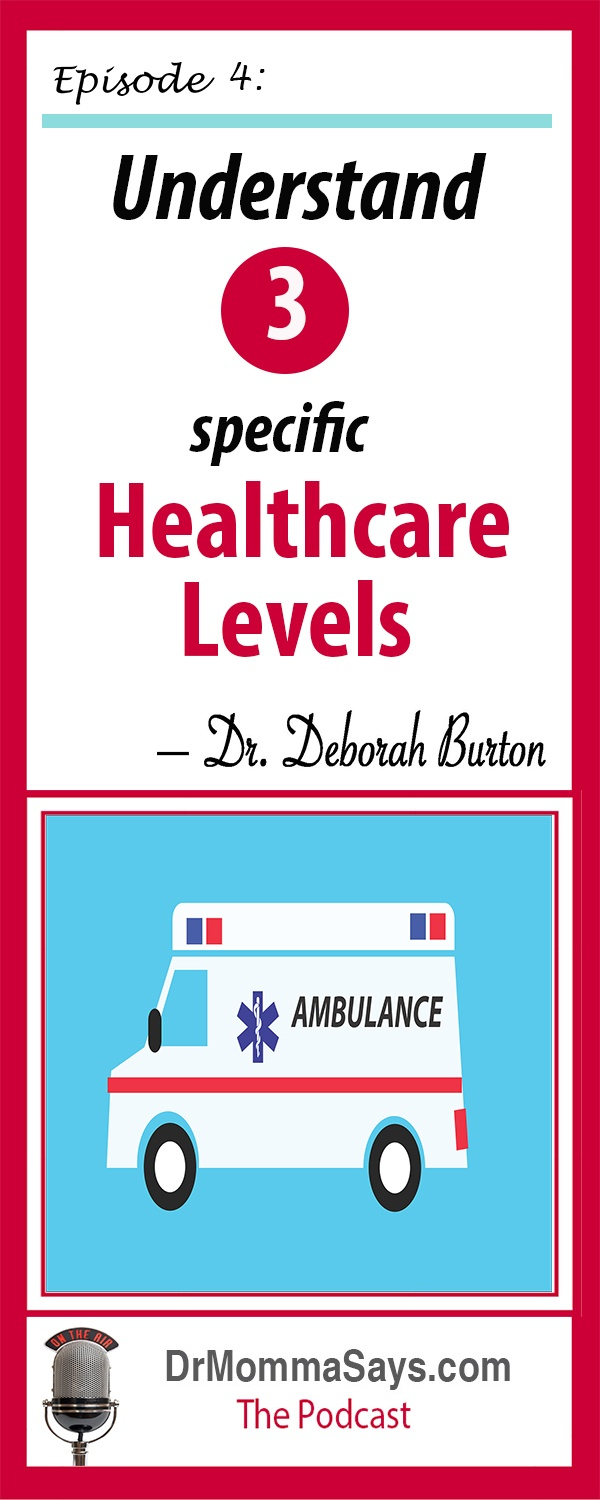 Dr. Burton introduces her first healthcare podcast by giving and overview of 3 different healthcare levels and explains the differences between them.